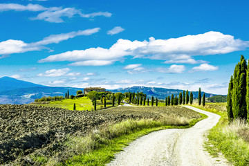Beautiful landscape in Tuscany Fototapete