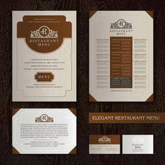 Vector Restaurant Menu Design, Brochure template with Logo
