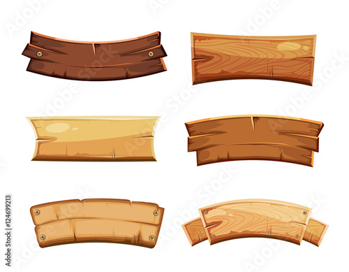 Quot Cartoon Wood Blank Banners And Ribbons Western Signs