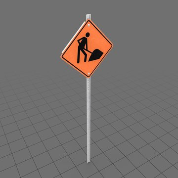 Construction Work Sign 1