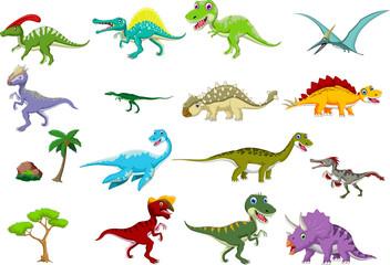 dinosaur cartoon set
