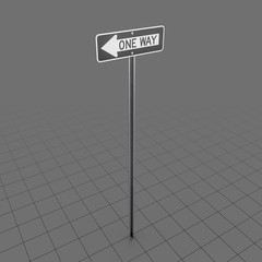 One Way Sign 2