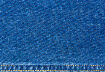 Jeans texture with seams for background.