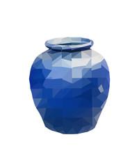 polygon Earthenware jar