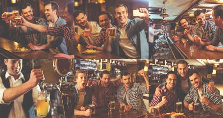 Guys resting in pub