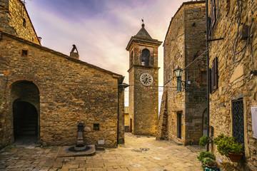 Casale Marittimo old stone village in Maremma. Tuscany, Italy
