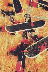 Grunge skate art