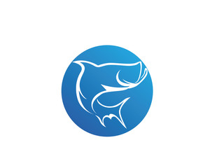 Fish logo and template