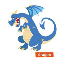 evil fire-breathing dragon.