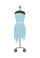 Light Blue Dress on Mannequin