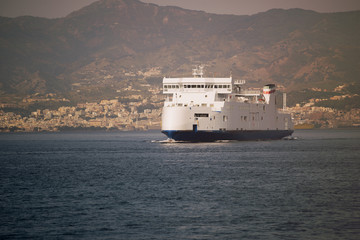 Ferry hull Strait of Messina Sicily Calabria Italy