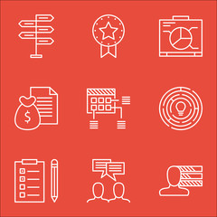 Set Of Project Management Icons On Schedule, Board And Personal Skills Topics. Editable Vector Illustration. Includes Reminder, Dashboard And Personality Vector Icons.