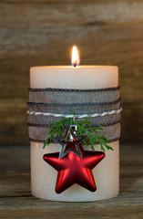 Advent Weihnachtskarte Licht Kerze Romantisch