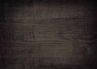 Perfect Black Wooden Plank, Tabletop, Floor Surface Or Chopping, Cutting Board.