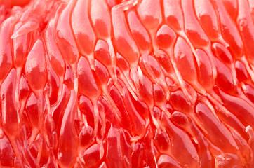 Foto auf Leinwand Makrofotografie cleared grapefruit closeup, background