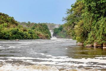 Murchison falls on the Victoria Nile river,Uganda