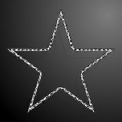 Frame Silver Sequins Star. Glitter, Sparkle.