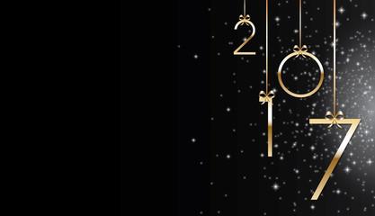 Bonne année 2017 noir Fotomurales