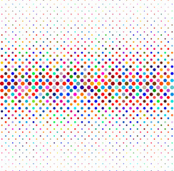 Colorful halftone background, dotted lines pattern background.