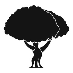 Tree icon. Simple illustration of tree vector icon for web