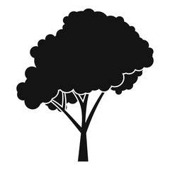 Tree with a rounded crown icon. Simple illustration of tree with a rounded crown vector icon for web