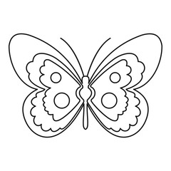 Butterfly icon. Outline illustration of butterfly vector icon for web