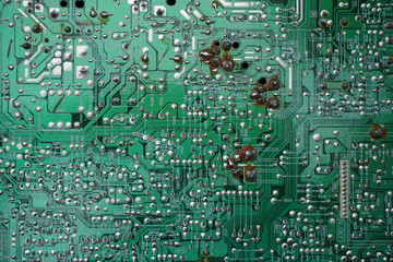 Electronic circuit board from old TV