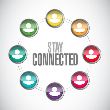 stay connected business network sign illustration