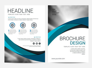 Annual report Brochure Layout design template, Leaflet Flyer template
