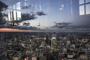 London City from above, view from the Shard