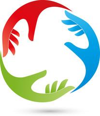 Hände, Helfer, Team, Logo