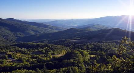 Hills around San Leo (Emilia Romagna). Color image