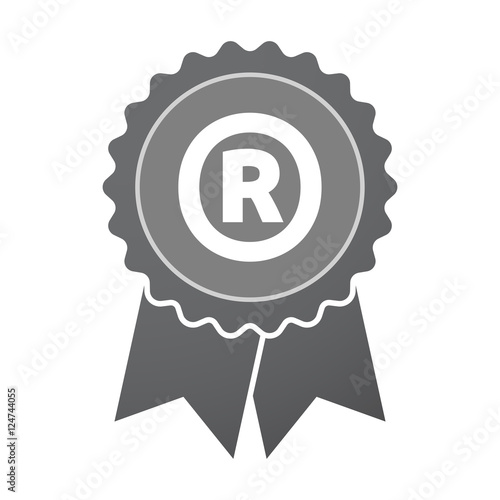 Isolated Badge Icon With The Registered Trademark Symbol Stock