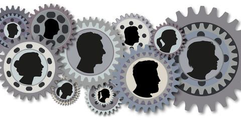 Travail d'équipe - Entreprise - Engrenages