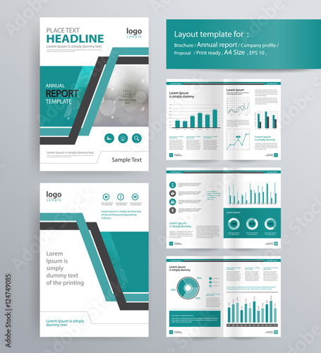 Page Layout For Company Profile Annual Report Brochure And Flyer