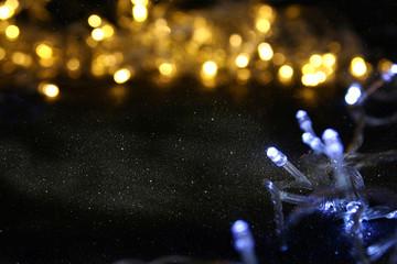 Abstract image of Christmas garland lights