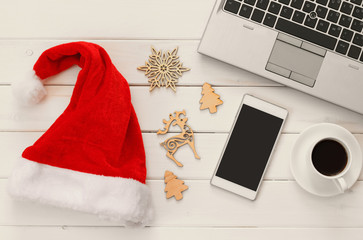 On line christmas holiday shopping concept