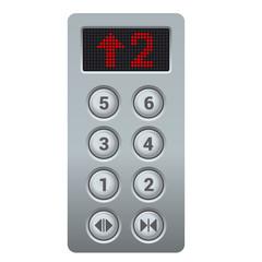 Steel Elevator Buttons Panel. Vector