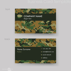 Camouflage Pattern Business Card Template