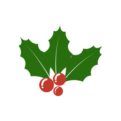 Christmas Holly berry icon. Christmas symbol.