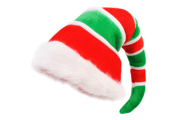 Cap of the Christmas Elf. Isolated over white Wall mural