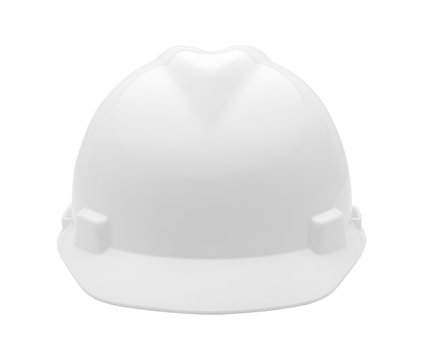White Hard Hat Front