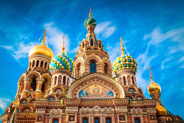 Orthodox church of the Savior on Spilled Blood in St. Petersburg. Russia.