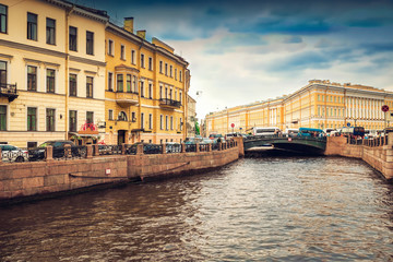 View of the canal in Saint Petersburg. Russia.