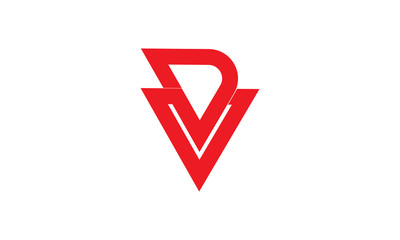 dv letters logo element