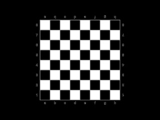Chessboard on a black background