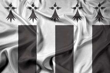 Waving Flag of Rennes, France