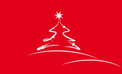 tannenbaum - rot/weiß