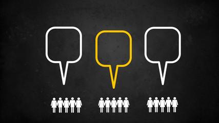 Sprechblasen Menschen