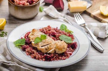 Chicken steak with buckwheat porridge